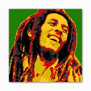 Picture it on Canvas 8 Bit Reggae Star Modern Graphic Art on Wrapped Canvas