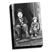 Picture it on Canvas Anaglyph Chaplin 3D Photographic Print on Wrapped Canvas