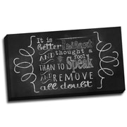 Picture it on Canvas Chalk Quotes Be Silent Chalkboard Quote Textual Art on Wrapped Canvas