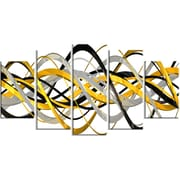 DesignArt HelixExpression Abstract 5 Piece Graphic Art on Gallery Wrapped Canvas Set