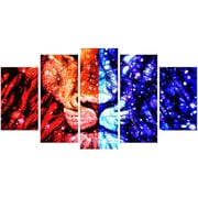 DesignArt King of the Jungle - Lion 5 Piece Graphic Art on Gallery Wrapped Canvas Set