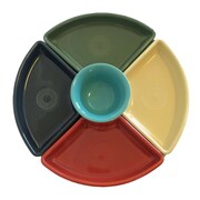 Fiesta 5 Piece Bowl Set; Paprika/Ivory/Sage/Slate/Turquoise