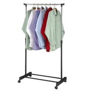 Sweet Home Collection 60''H x 32''W x 17''D Adjustable Rolling Garment Rack