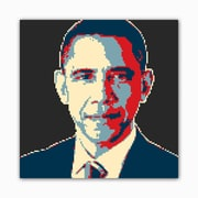 Picture it on Canvas 8 Bit Mr. President Modern Graphic Art on Wrapped Canvas