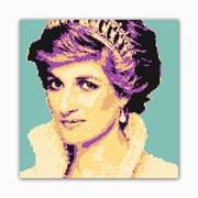 Picture it on Canvas 8 Bit Princess Modern Graphic Art on Wrapped Canvas
