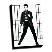 Picture it on Canvas Anaglyph Elvis 3D Photographic Print on Wrapped Canvas