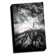Picture it on Canvas Anaglyph Mount St Helens 3D Photographic Print on Wrapped Canvas