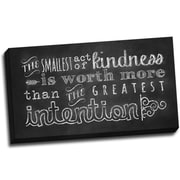 Picture it on Canvas Chalk Quotes Kindness Chalkboard Quote Textual Art on Wrapped Canvas