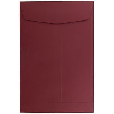 JAM Paper® 6 x 9 Open End Envelopes, Dark Red, 10/pack (31287522B)
