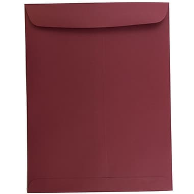 JAM Paper® 10 x 13 Open End Catalog Envelopes, Dark Red, 100/pack (31287541)