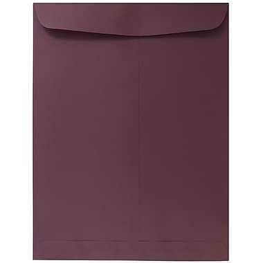 JAM Paper® 9 x 12 Open End Catalog Envelopes, Burgundy, 10/pack (21285781B)