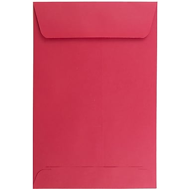 JAM Paper® 6 x 9 Open End Envelopes, Brite Hue Red Recycled, 10/pack (V0128139B)