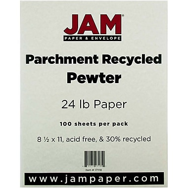JAM Paper® 24 lb.. Parchment Recycled Paper, 8 1/2