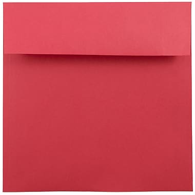 JAM Paper® 7.5 x 7.5 Square Envelopes, Brite Hue Red Recycled, 1000/carton (02792291C)