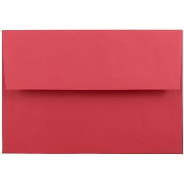 JAM Paper® A8 Invitation Envelopes, 5.5 x 8.125, Brite Hue Red Recycled, 1000/carton (27799B)