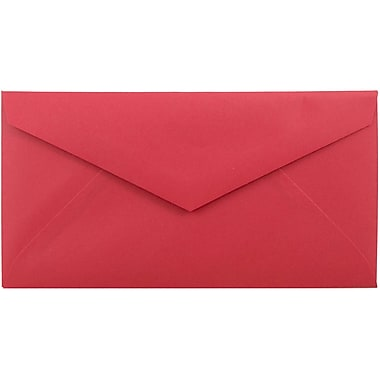 JAM Paper® Monarch Envelopes, 3 7/8 x 7 1/2, Brite Hue Red Recycled, 25/pack (151014)