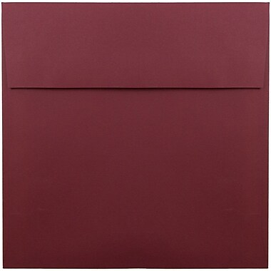 JAM Paper® 8.5 x 8.5 Square Envelopes, Dark Red, 25/pack (31511323)