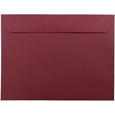 JAM Paper® 9 x 12 Booklet Envelopes, Dark Red, 25/pack (31511309)