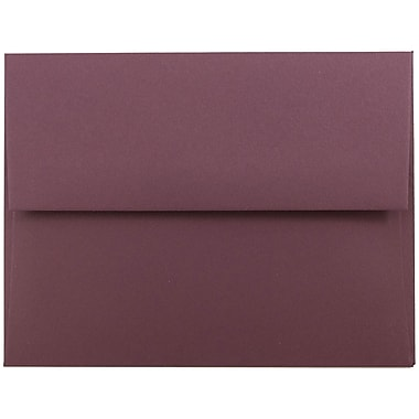 JAM Paper® A2 Invitation Envelopes, 4 3/8 x 5 3/4, Burgundy, 25/pack (36395847)