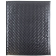 "JAM Paper® 12"" x 15 1/2"" Open End Matte Bubble Envelopes w/Peel and Seal Closure, Matte Black, 12/Pack"