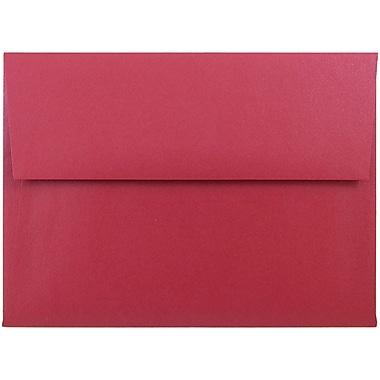 JAM Paper® A6 Invitation Envelopes, 4.75 x 6.5, Stardream Metallic Jupiter Red, 25/pack (V018263)