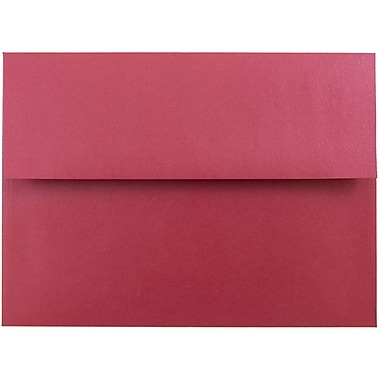 JAM Paper® A7 Invitation Envelopes, 5.25 x 7.25, Stardream Metallic Jupiter Red, 1000/carton (SD5380 20B)