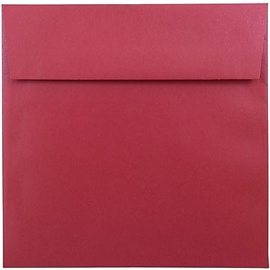 JAM Paper® 6.5 x 6.5 Square Envelopes, Stardream Metallic Jupiter Red, 25/pack (SD853520)