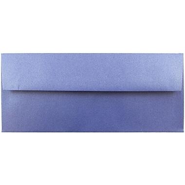 JAM Paper® #10 Business Envelopes, 4 1/8 x 9 1/2, Stardream Metallic Sapphire Blue, 25/pack (V018289)