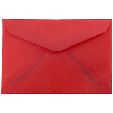JAM Paper® 3drug Mini Small Envelopes, 2 5/16 x 3 5/8, Red Translucent Vellum, 25/pack (1591589)