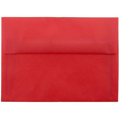 JAM Paper® A7 Invitation Envelopes, 5.25 x 7.25, Red Translucent Vellum, 25/pack (PACV705)