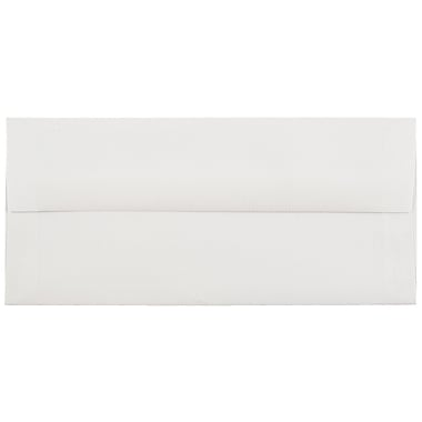 JAM Paper® #10 Business Envelopes, 4 1/8 x 9 1/2, Strathmore Bright White Laid, 1000/carton (191166B)