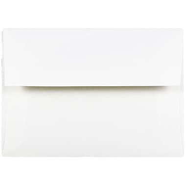 JAM Paper® A2 Invitation Envelopes, 4 3/8 x 5 3/4, Strathmore Bright White Wove, 25/pack (191151)