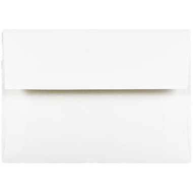 JAM Paper® A7 Invitation Envelopes, 5.25 x 7.25 Strathmore Bright White Wove, 25/pack (STTW711)