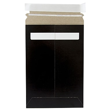 JAM Paper® Photo Mailer Stiff Envelopes with Self Adhesive Closure, 6 x 9, Black, Sold Individually (514412114)