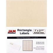 "Jam Paper 1"" x 2.62"" Inkjet/Laser Mailing Address Labels, Natural, 4/Pack (2273704)"