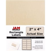 "Jam Paper 2"" x 4"" Inkjet/Laser Mailing Address Labels, Natural,12/Pack (v0227360)"