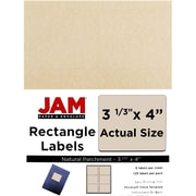 "Jam Paper 3.33"" x 4"" Inkjet/Laser Mailing Address Labels, Natural, 6/Pack (2275083)"