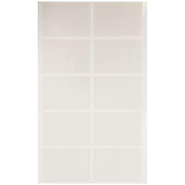 JAM Paper – Porte-cartes professionnelles auto-adhésives en polypropylène, 2 x 3,5 po, 50/pqt