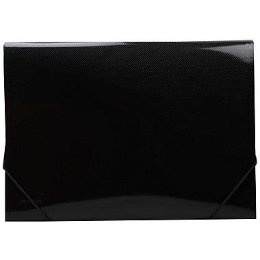 JAM Paper® 13 Pocket Expanding File, Letter Size, 9 x 13, Black, 24/pack (2163591B)