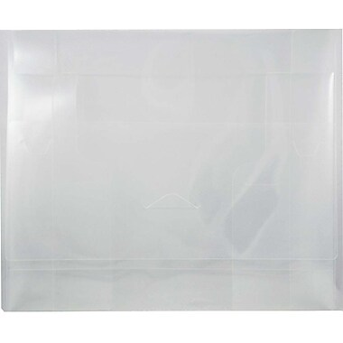JAM Paper® Big Portfolio with Tuck Flap Closure, 10 x 13.5 x 1.75, Clear, Sold Individually (52530CLBULK)