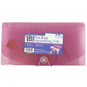 JAM Paper® 13 Pocket Expanding File, Check Size, 5 x 10.5, Pink, Sold Individually (221618982)