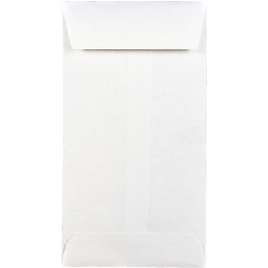 JAM Paper® #5 Coin Envelopes, 2 7/8 x 5 1/4, White, 1000/carton (016211217B)