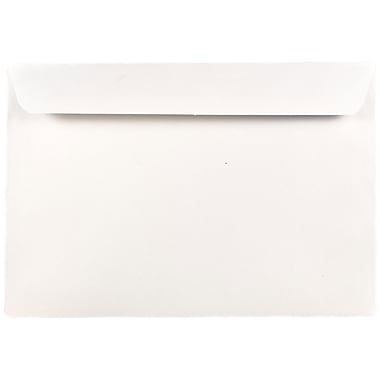 JAM Paper® 7.5 x 10.5 Booklet Envelopes, White, 1000/carton (4246B)
