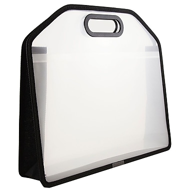 JAM Paper® Carry Case with Handles, 14.75 x 10.75 x 3.75, Clear, Sold Individually (298023961)