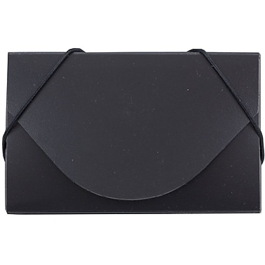 JAM Paper® Plastic Business Card Case, Black, Sold Individually (9167043)
