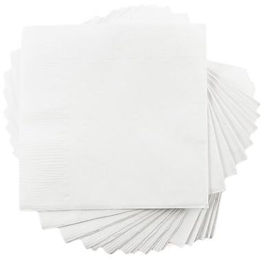 JAM Paper® Small Beverage Napkins, Small, 5 x 5, White, 50/Pack (5255620731)