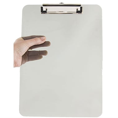 JAM Paper® Plastic Clipboard, 9 x 13, Grey, Sold Individually (340926884)