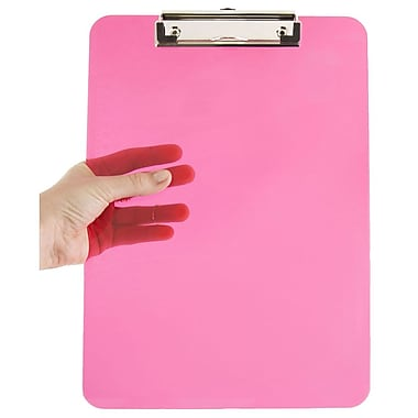 JAM Paper® Plastic Clipboards, 9 x 13, Pink, 12/pack (340926883A)