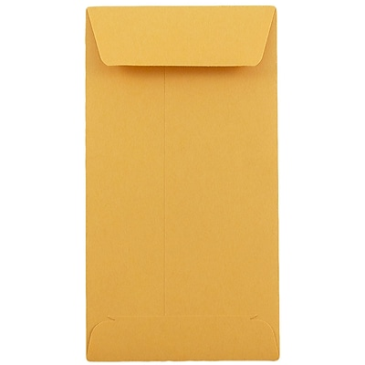 JAM Paper 7 Coin Envelopes 6.5 x 3.5 Brown Kraft 25 pack 95125