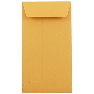 JAM Paper® #7 Coin Envelopes, 6.5 x 3.5, Brown Kraft, 25/pack (95125)